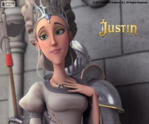 Puzle Queen je krásná panovník království