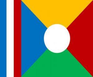 Puzle Réunionská vlajka