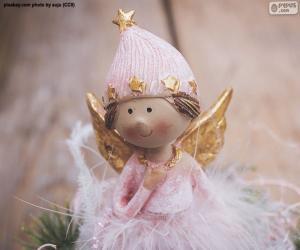 Puzle Růžový anděl