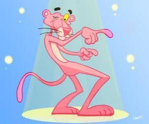 Puzle Růžový panter, tanec