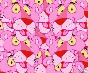 Puzle Růžový Panter, vtipné kreslené postavičky