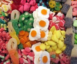 Puzle Různé cukrovinky