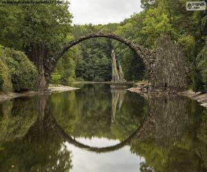 Puzle Rachttzbrucke Ďáblův most, Německo