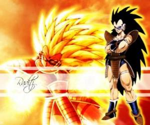 Puzle Raditz, Saiyan, Son Goku starší bratr, který se podařilo přežít zničení planety, Vegeta