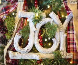 """Puzle Radost k Vánocům """"JOY"""""""