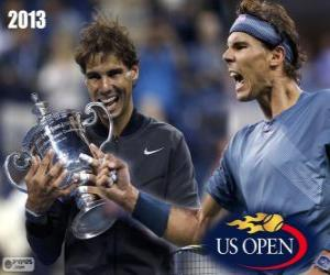 Puzle Rafael Nadal mistr nás US Open 2013