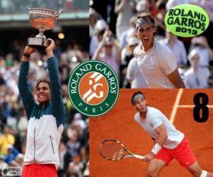 Puzle Rafael Nadal vítěz Roland Garros 2013