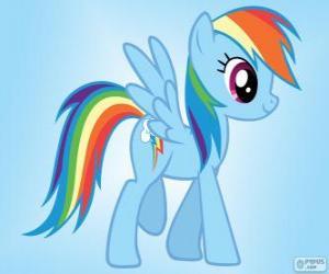 Puzle Rainbow Dash, Pegas pony s ocáskem rainbow