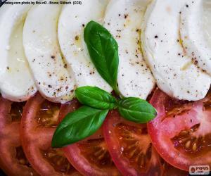 Puzle Rajčaty a mozzarellou