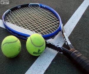 Puzle Raketa na tenisové míčky