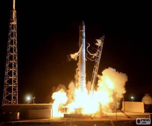 Puzle Raketa na zahájení