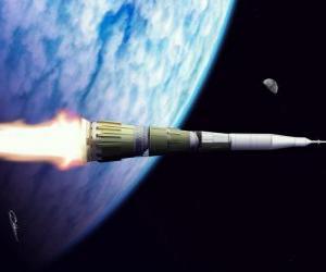 Puzle Raketa v rozlehlosti vesmíru