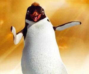 Puzle Ramone, tučňák vůdce v klubu Los Amigos