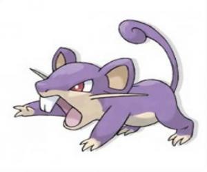Puzle Rattata - Pokémon Normální typ, rychlý útok krys