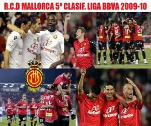 Puzle RCD Mallorca 5. Utajované Liga BBVA 2009-2010
