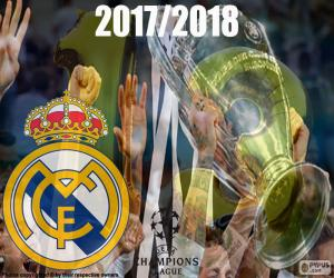 Puzle Real Madrid, mistrů 2017-2018