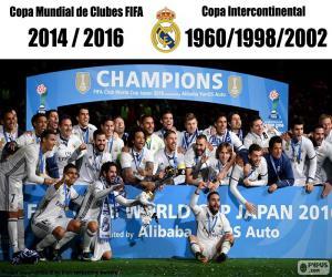 Puzle Real Madrid, světa ve fotbale klubů 2016