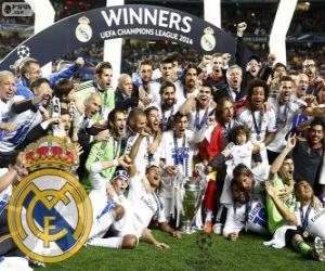 Puzle Real Madrid, vítěz Liga mistrů UEFA 2013-2014