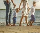 Rodinné procházky po pláži
