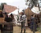 Warrior chráněného brnění a přilbu a ozbrojených