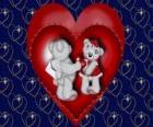 Medvědi v lásce se dvě srdce