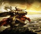 Minotaur - Obří monstrum s lidským tělem a býčí hlavou jako ozbrojený bojovník