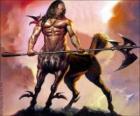 Centaur ozbrojené - Být s trupem a hlavou člověka a tělo koně