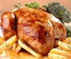 Drůbeží maso vařené celek do pece a ozdob na podnos