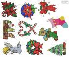 Vánoční ozdoby kresby
