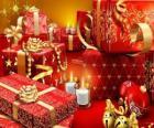 Vánoční dárky se zapálil svíčku na Štědrý den