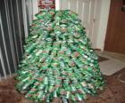 Vánoční strom z konve soda