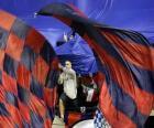 Osasuna vlajka je červené a tmavě modré