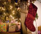 Vánoční ponožka visel