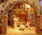 Hlavní betlém se svatou rodinu ve stodole