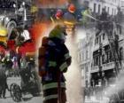 Několik fotografií hasičů