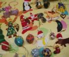 Různé vánoční ozdoby