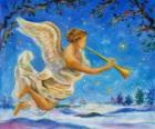 Angel, hrál na trubku