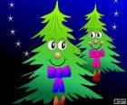 Dva vánoční stromky