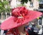 Pamela červená, je velmi široký-přetékal klobouky užívat ženy
