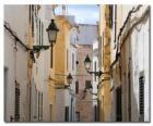 Obec ulice v Menorca, Španělsko
