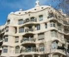 Díla Antoni Gaudí. La Pedrera a Casa Milá by Gaudi, Barcelona, Španělsko.