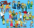 Některé postavy z The Simpsons