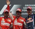 Fernando Alonso, Felipe Massa, Sebastian Vettel, Hockenheim, německé Grand Prix (2010) (1., 2. a 3. Utajované)