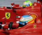 Fernando Alonso, Felipe Massa - Ferrari - Grand Prix Maďarska 2010