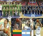 Litva - Argentina, čtvrtfinále, 2010 FIBA světa Turecko