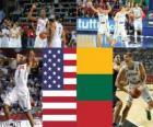 Spojené státy - Litva, semi-finále, 2010 FIBA světa Turecko