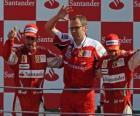 Fernando Alonso, Stefano Domenicali, Felipe Massa, Monza, 2010