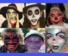 Děti make-up pro Halloween