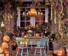 veranda zdobené pro halloween