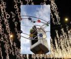 Provozovatel uvádění okrasných vánoční osvětlení